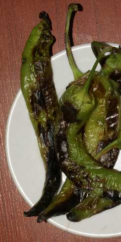 Capsicum annuum: Turkish charred peppers